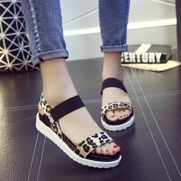 Fish Mouth Sandals NZ - Fairy2019 Flat Toe Sandals Soft Bottom Non-slip Spelling Color Student Beach Fish Mouth Women's Shoes