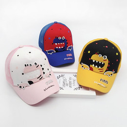 baby cotton sunhats Canada - 2019 newborn baby boy accessories Toddler CuteBaby Boy Hat Letter Soft Cotton Dinosaur Sunhat Eaves Baseball Cap Sun Beanie Cap