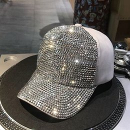 $enCountryForm.capitalKeyWord Australia - Women Men Sports Luxury Sequins Sun Block Rhinestones Hat Fashion Adjustable Baseball Cap Summer Snapback Pearl For Traxxas TRX4