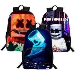 $enCountryForm.capitalKeyWord Australia - 1PC DJ Backpack Marshmallow Multifunction School Bag for Boys Teenagers Student Book Bags Girls 16inch DJ Smile Novelty Travel Shoulder Bag