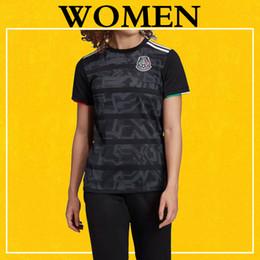Discount girls shirt s - Women Mexico 2019 Gold Cup Soccer Jersey Black VELA CHICHARITO LOZANO RAUL LAINEZ Female Girl Football Shirt More 10pcs