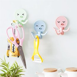 $enCountryForm.capitalKeyWord NZ - New Bathroom Fridge Cute Octopus Key Jewelry Hanger Sticker Hook Organizer Holder