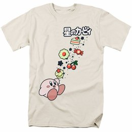 food t shirts Australia - Kirby With Food Licensed Adult T Shirt Cartoon t shirt men Unisex New Fashion tshirt free shipping top ajax