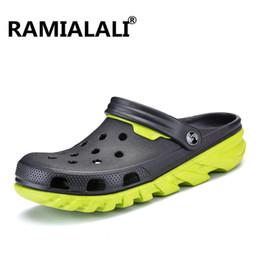 $enCountryForm.capitalKeyWord Australia - Ramialali New Comfortable Big Size Men Beach Sandals 2018 Soft Clogs Casual Garden Shoes Hole Breathable Flip Flops High Quality
