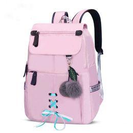 women backpacks 2019 - New 2019 fashion school backpack for girls college school bags women shoulder bag fur ball bowknot backpacks for teenage