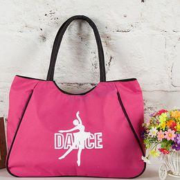 Wholesale dance bags pink for sale - Group buy pink ballet dance bag black hanhandbags for girls women dancer Embroidered Clutch good Water proof fabric bag