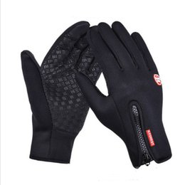 Leather Gloves For Men Australia - Outdoor Sports Hiking Winter Bicycle Bike Cycling Gloves For Men Women Windstopper Simulated Leather Soft Warm Gloves