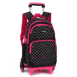 Canvas Bag Wheels Australia - 2018 Waterproof Trolley School backpacks  Girls Children School Bags Wheels Travel 789f14ef90eb8