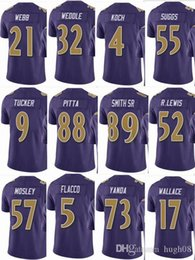 justin tucker jersey Canada - RAVENS #57 CJ Mosley #52 Ray Lewis Mens #55 Terrell Suggs #9 Justin Tucker #5 Men Women Youth Color Rush Elite Football Jerseys