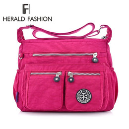 $enCountryForm.capitalKeyWord UK - Herald Fashion Waterproof Nylon Women Messenger Bags Carteira Vintage Hobos Ladies Handbag Female Crossbody Bags Shoulder Bags SH190710