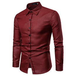 $enCountryForm.capitalKeyWord UK - 2018 Fashion New men's hot stamping Long eeved Shirt Slim Plaid Shirt