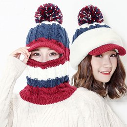 0c60db007d8 New Arrival Women s Color One-piece Beanie Hat Winter Knitted Hats Ski Caps  Wool Slouchy Beanies for Femme Warm Casual