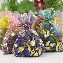 China 5 Bag Natural Lavender Bud Dried Flower Sachet Bag Aromatherapy Aromatic Air Refresh Scent Fragrance Car Home Office Decor supplier sachet scented bag suppliers