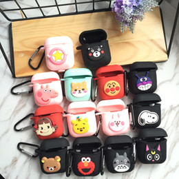 Intelligent Cartoons Australia - For Apple Airpods Smart Earphones Protector Wireless Bluetooth Intelligent Earbuds Cartoon Silicone Charging Box Shatter-resistace Cover