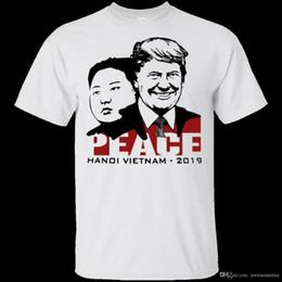 Vietnam White NZ - Donald Trump and Kim Jong Un Peace Hanoi Vietnam 2019 G200 S - 3XL T-Shirt