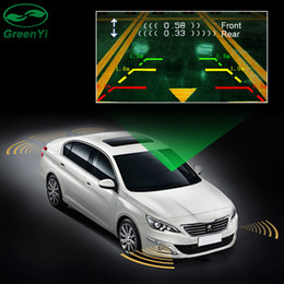 channel dvd player Canada - 2018 Dual Channel Car Video Parking Radar Sensor Front Rear 6 Sensors 2 Video Input For Car Parking Camera Monitor DVD Player