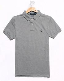 Ingrosso Camicia a maniche corte da uomo di marca Polo Uomo Camicie da ufficio camicia da polo uomo di New York Fashion colore solido di alta qualità