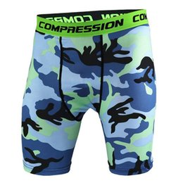 camo compression shorts Australia - New 2017 Mens Camouflage Compression Tights Shorts Brand Clothing Camo Short Pants Men Homme Fitness Casual Shorts