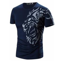 Discount long sleeve tattoo print tops - T Shirt Men 2019 Brand Short Sleeve Hip Hop Male T-Shirts Mens Tattoo Printing Casual Mens Funny Tshirt Slim Tee Tops 3X