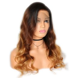 $enCountryForm.capitalKeyWord UK - Ombre 3 Tone Deep Part Lace Front Human Hair Wigs for Black Women Brazilian Remy Hair Full Lace Wigs Pre-Plucked With Baby Hair