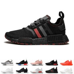 fb0deaee43d2f NMD R1 Primeknit Running Shoes Men Women Triple Black White OG Classic  Tri-Color Grey Oreo Japan Red Casual Sports Sneakers Size 36-45