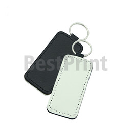Rectangle Heart Round Square shaped PU made blank sublimation key chain soft hand feel PU keychain on Sale