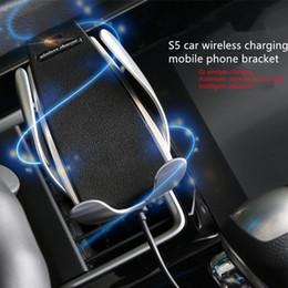 $enCountryForm.capitalKeyWord Australia - 2019 hot sale Magic clip s5 wireless charging car wireless charger car smart sensor phone bracket