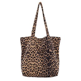 Leopard Print Goods Australia - good quality Vintage Leopard Printed Shoulder Bag For Female Large Capacity Women Shopping Bag Cotton Lady Casual Tote Handbag