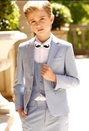 $enCountryForm.capitalKeyWord Australia - Handsome Two Buttons Notch Lapel Kid Formal Suit Designer Boy Wedding Suit Boys' Attire Custom-made (Jacket+Pants+Vest)