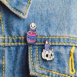 $enCountryForm.capitalKeyWord Australia - New Arrival Cartoon Skull Candle Death Potion Brooch Star Skeleton Elf Enamel Pin Leather Coat Lapel Badge Halloween Kids and Friends Gifts
