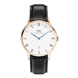 $enCountryForm.capitalKeyWord UK - White Face DW Mens womens Leather Nylon Strap watches 40mm Men watches 36 Women Watches DW Quartz Watch Female Clock Relogio Montre Femme