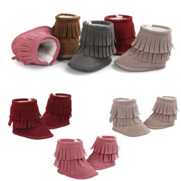 wholesale snow shoes NZ - PUDCOCO Fashion Newborn Toddler Baby Girls Winter Warm Tassel Snow Boots Infant Soft Sole Crib Cotton Shoes 3-11M