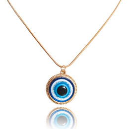 evil eye necklace turkey Australia - S1408 Turkish Symbol Evil Blue Eyes Pendant Necklace Resin Bead Pendant Necklace Women Nazar Turkey Arabic Islamic Lucky Charm Gift
