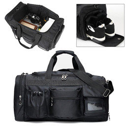 fashion duffle bags women 2019 - Black Men Women Luggage Travel Duffle Bags Training Gym Bag Canvas Multifunction Handbag Female Totes Large Capacity Wee