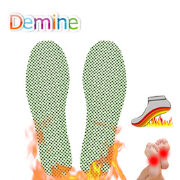 shoe heating Australia - Demine Heated Insoles Self-heating Winter Insoles For Footwear Heating Insoles Warm Therapy Reflexology Natural Tourmaline