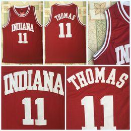 Red Basketball Jerseys Australia - cheap College Basketball Shirt #11 ISIAH THOMAS Jerseys Indiana Hoosiers Red 100% Stitched College Basketball Jerseys S-3XL Fast Shipping