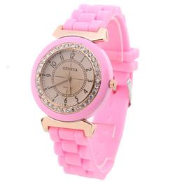 $enCountryForm.capitalKeyWord Australia - Fashion round dial diamond numbers women silicone soft bands sport watches wholesale ladies female dress quartz wrist watches