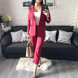 $enCountryForm.capitalKeyWord Canada - New Two Pieces Mother Of The Bride Pants Suits Black Pinstripe Wedding Guest Dresses Custom Made Women Clothes