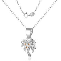 $enCountryForm.capitalKeyWord Australia - JEWELRY coconut tree clavicular chain Pure 925 silver creative necklace neck chain pendant for women
