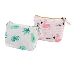 Min Cards Australia - 20pcs Bird Leaf Printed Vintage Zipper Pencil Case Cute Portable Min Key Coin Purse Makeup Bag