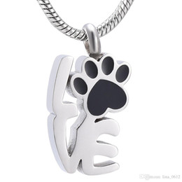 $enCountryForm.capitalKeyWord Australia - KLH9965 Pet Dog Paw Cat Cremation Urn Necklace For Ashes Memorial Keepsake Pendant-Love Pets Paw Cremation Jewelry