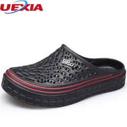 $enCountryForm.capitalKeyWord Australia - UEXIA Summer Men Fashion Casual Slippers Shoes Jelly Outdoor Beach Breathable Slipper Flats Water Sandalias Zapatos Flip Flops