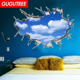 $enCountryForm.capitalKeyWord Australia - Decorate home 3D cloud cartoon art wall sticker decoration Decals mural painting Removable Decor Wallpaper G-840