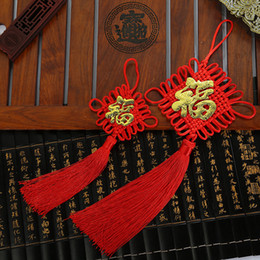 Chinese Lucky Knots NZ - Polyester Mini Chinese Knots Knotting Tassels Blessing Lucky Curtain Hang Decorations Pendant Decoration New Year Gifts