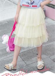 Nova menina moda saia de alta qualidade Fluffy net saia de gaze gás estrangeiro saia bolo infantil