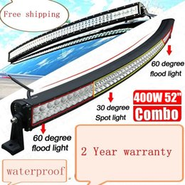 """54 Car Australia - 52 inch 400W Curved Spot Flood Combo Beam LED Work Driving Light Bar for Offroad Car Truck Boat Jeep Ford Trailer 4WD SUV ATV UTE 52"""" 54"""""""