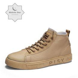 $enCountryForm.capitalKeyWord Australia - Fashion Men's casual ankle boots men fashionable man shoes male platform sneakers for men breathable flats rubber sole