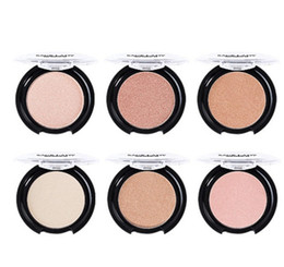 Color Powder Blusher UK - Wholesale 6 Colors Highlighter Powder Body Face Contour Professional Glitter Palette Makeup Glow Kit Brighten Smooth Blusher Pink Cosmetic