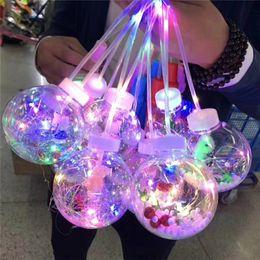 2019 LED Laterne Ballons Handblinkende Ballons Nachtbeleuchtung Bobo Ball Led Lichterketten Multicolor Ballon Mit Griff Valentinstag im Angebot