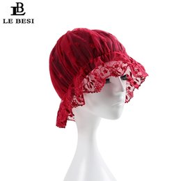 $enCountryForm.capitalKeyWord NZ - LE BESI 2017 New Women Swimming Cap Waterproof PU Elastic Swim Lace Cap Pleated knot Beach Long Hair Swimming Hat